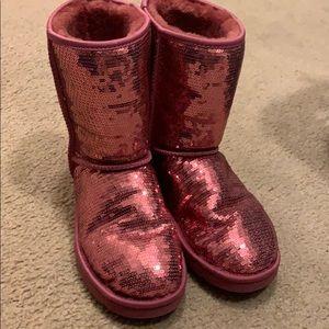 Ugg boots pink sequin